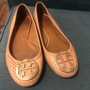 Tory Burch Reva Perforated Leather Ballet Flat